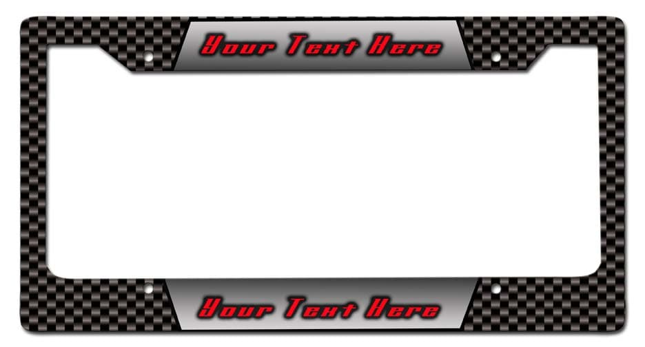 Carbon Personalized License Frame Vintage Metal Sign, 12 By 6 by Vintage Sign Company item number: LPF010