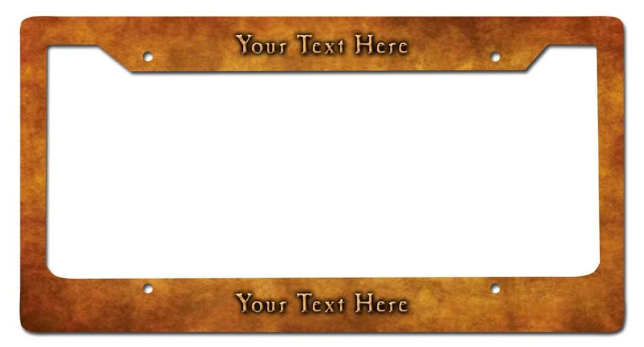 Brass Personalized License Frame Vintage Metal Sign, 12 By 6 by Vintage Sign Company item number: LPF014