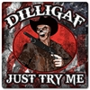 Dilligaf Skeleton Cowboy Vintage Metal Sign, 12 By 12 by Vintage Sign Company item number: WKS007