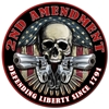 2Nd Amendment Defending Liberty Vintage Metal Sign, 14 By 14 by Vintage Sign Company item number: WKS014