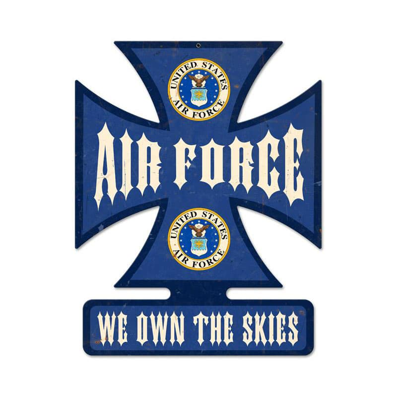 Air Force Vintage Metal Sign, 14.5 By 18.5 by Vintage Sign Company item number: IC013