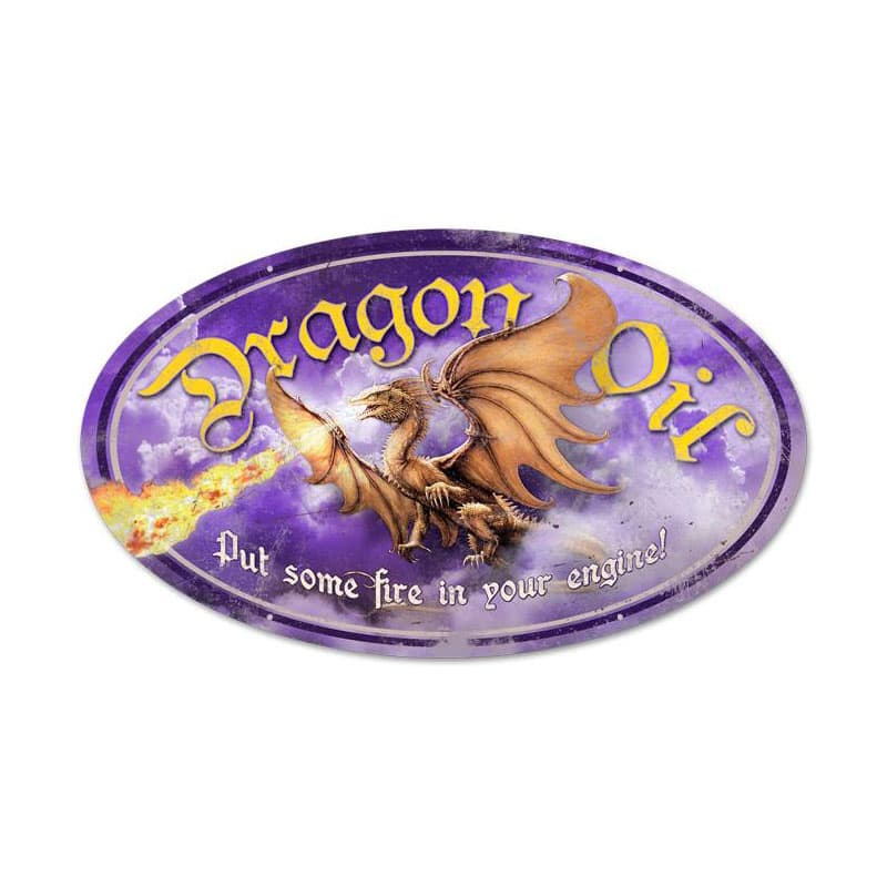 Dragon Oil Vintage Metal Sign, 14 By 24 by Vintage Sign Company item number: OS025