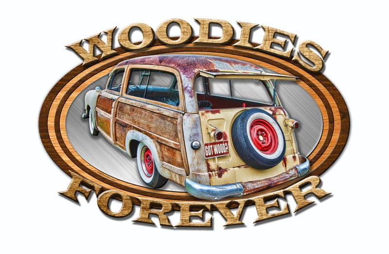 3-D Wood Forever Vintage Metal Sign, 24 By 16 by Vintage Sign Company item number: OSN014