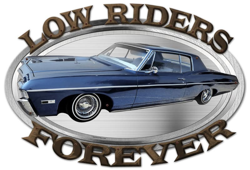 3-D Low Riders Forever Vintage Metal Sign, 24 By 16 by Vintage Sign Company item number: OSN024