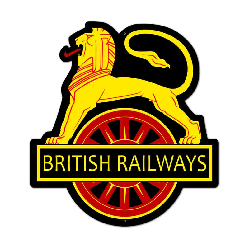 British Railways Vintage Metal Sign, 18 By 21 by Vintage Sign Company item number: PS036