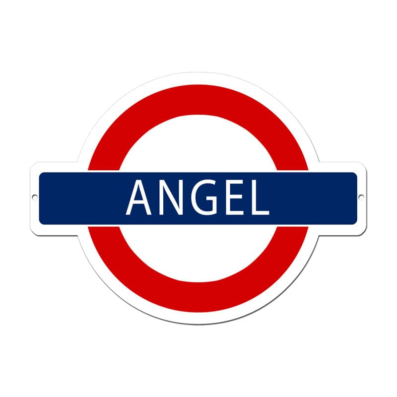 Angel Underground Vintage Metal Sign, 21 By 16 by Vintage Sign Company item number: PS038