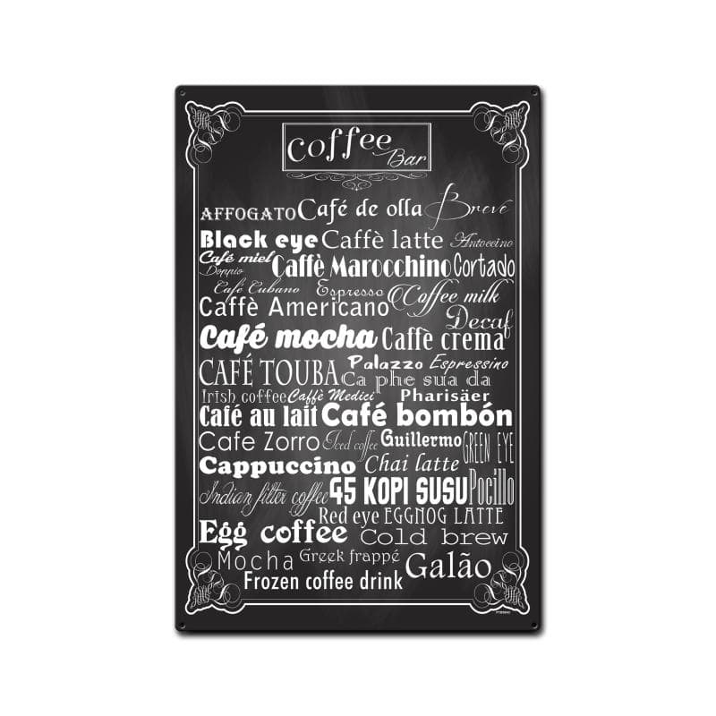 Coffee Bar Vintage Metal Sign, 16 By 24 by Vintage Sign Company item number: PTBS043