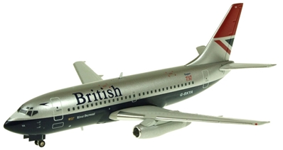 British 737-200 ~G-BKYA (1:200), AK 200 Scale Diecast Airliners Item Number AK011