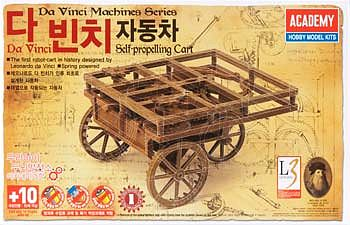 Da Vinci Self-Propelling Cart, Academy Hobby Plastic Model Kits Item Number ACD18129