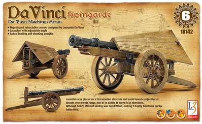 DaVinci Machine Series Spingarde, Academy Hobby Plastic Model Kits Item Number ACD18142