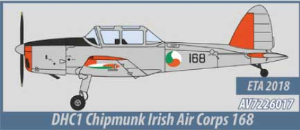 DHC1 Chipmunk, Irish Air Corps (1:72) - Preorder item, order now for future delivery