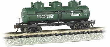 3-Dome Tank Chemcell (N), Bachmann Model Trains Item Number BAC17152