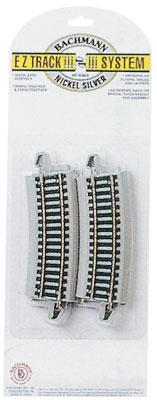 1/2 22 Radius Curve Track, 4 pack (HO), Bachmann Model Trains Item Number BAC44532