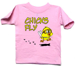 Chicks Fly Pink Toddler Shirt
