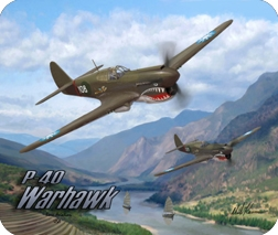P-40 Classic Flight Mouse pad, Born Aviation Aviation Gifts Item Number MPK-P40