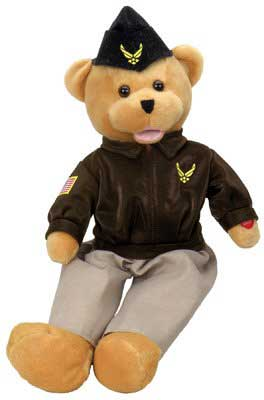"Air Force Military Hero Bear ""The U.S. Air Force"" aka ""Wild Blue Yonder"", Born Aviation Aviation Gifts Item Number SA-AFH"