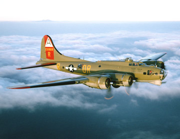 B-17 in Sky Banner, Vintage Sign Company Item Number CANV008