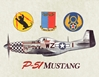 P-51 Mustang Banner, Vintage Sign Company Item Number CANV042