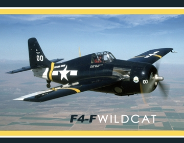 F4-F Wildcat Banner, Vintage Sign Company Item Number CANV050