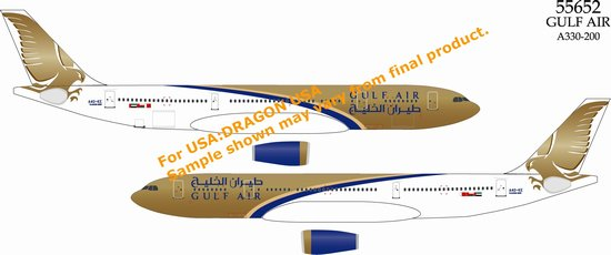 Gulf Air A330-200 (1:400), DragonWings 400 Diecast Airliners Item Number DRW55652