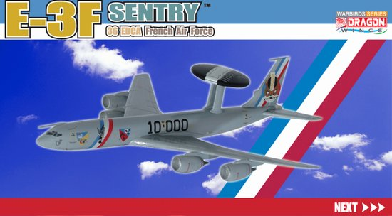 France Air Force E-3F (1:400), DragonWings 400 Diecast Airliners Item Number DRW55685
