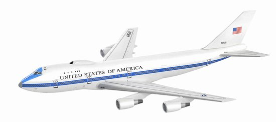 E-4B Advanced Airborne Command Post 747-200 (1:400), DragonWings 400 Diecast Airliners Item Number DRW56269