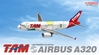 "TAM A320 - PR-MAP ""World Cup 2010"" (1:400), DragonWings 400 Diecast Airliners Item Number DRW56323"