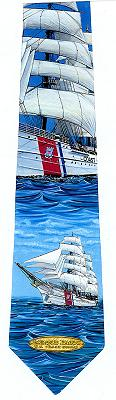 Coast Guard Barque Eagles Necktie, Gift of Wings Item Number GOW917