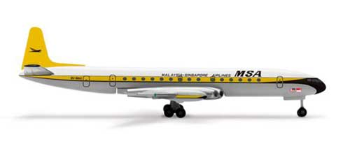 Malaysia Singapore Comet 4 (1:500), Herpa 1:500 Scale Diecast Airliners Item Number HE515443