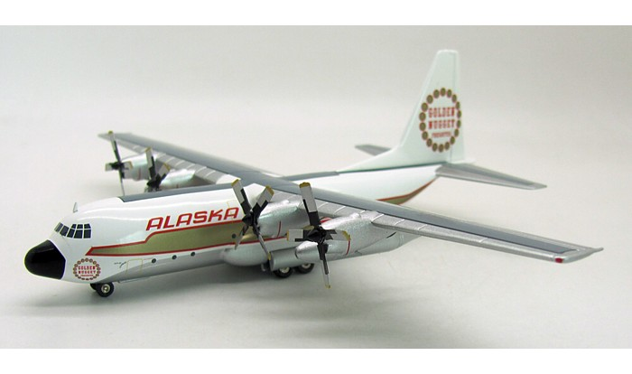 Alaska Airlines L-100 (C-130) N9227R (1:200), InFlight 200 Scale Diecast Airliners Item Number IF1300214
