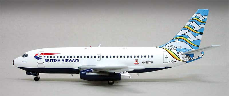 "British Airways 737-200 ""Blue Poole"" ~G-BKYB (1:200), InFlight 200 Scale Diecast Airliners Item Number IF7321111A"