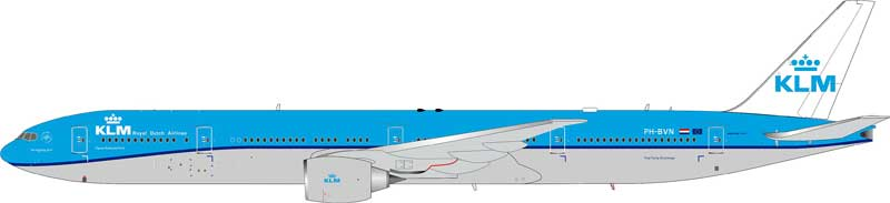 KLM - Royal Dutch Airlines 777-306/ER PH-BVN (1:200), InFlight 200 Scale Diecast Airliners Item Number IF77730415