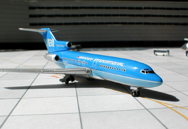 "Braniff International ""Flying Colors"" B727-100 - Blue N309BN (1:400), Jet X 1:400 Diecast Airliners Item Number JET033"