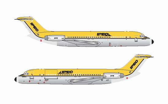 IPEC - Independent Air Freighter of Australia DC-9-30 ~ VH-IPF (1:400), Jet X 1:400 Diecast Airliners, Item Number JET602A