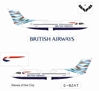 "British Airways BAe-146-300 ""Special Tail - USA"" ~ G-BZAT (1:400), Jet X 1:400 Diecast Airliners, Item Number JETBA001"