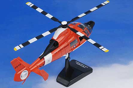 Dolphin HH-65C U.S. Coast Guard, CGAS San Francisco (1:48), New Ray Diecast Item Number NR25907