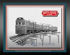 "North Shore Line ""North Shore Line Electroliner"" (Pencil Print 11"" x 14""), Mark Karvon Aviation Art Item Number MKNNSL"