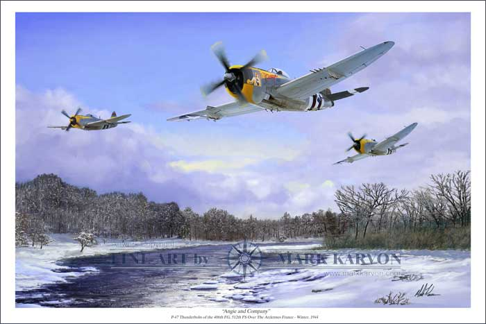 Angie & Company (Fine Art Print), Mark Karvon Aviation Art Item Number MKNP47