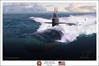 "USS Memphis ""Mighty Memphis"" (Fine Art Print), Mark Karvon Aviation Art Item Number MKNUSSMEM"
