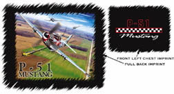 P-51 Mustang Tshirt (Back Image/Front Logo), Labusch Skywear Item Number TSFB-P51