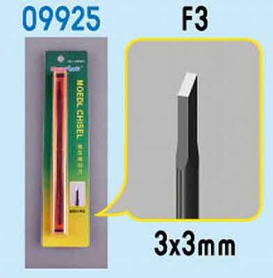 Model Micro Chisel 3mm X 3mm,  Item Number TRP9925