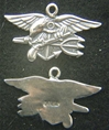 US Navy Seals Insignia Sterling Charm, Weingarten Gallery Item Number P-2146
