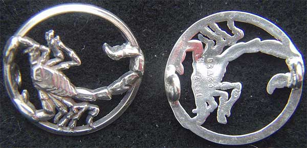 WWII French F-554 Squadron Pilot Pin Sterling Silver Scorpion WWII, WWII French Pilot, WWII F-554, WWII Scorpion Pilot
