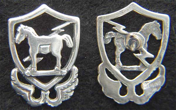 10th Special Forces 1950s beret badge Sterling Silver Tie Tack Special Forces, 10th SF, SF