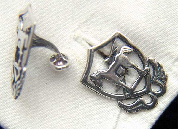 10th Special Forces 1950s beret badge Sterling Silver Cuff Links Special Forces, 10th SF, SF, SF Cuff Links
