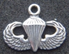 Paratrooper Badge Charm Sterling, Weingarten Gallery Item Number P-103
