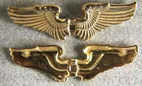 Civilian Instructor Wing Sterling w Gold