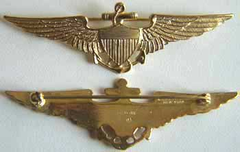 Navy Pilot 1930s Sterling with Gold