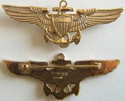 WWII Coast Guard Pilot Sterling w Gold