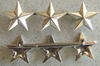 WWII 3 Star Rank Sterling Silver Clutch Back General, WWII General, Sterling Star, Sterling General star